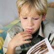 Boy and book — Stock Photo