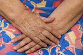 Hands of the grandmother — Stock Photo