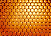 Gold honeycombs — Stock Photo