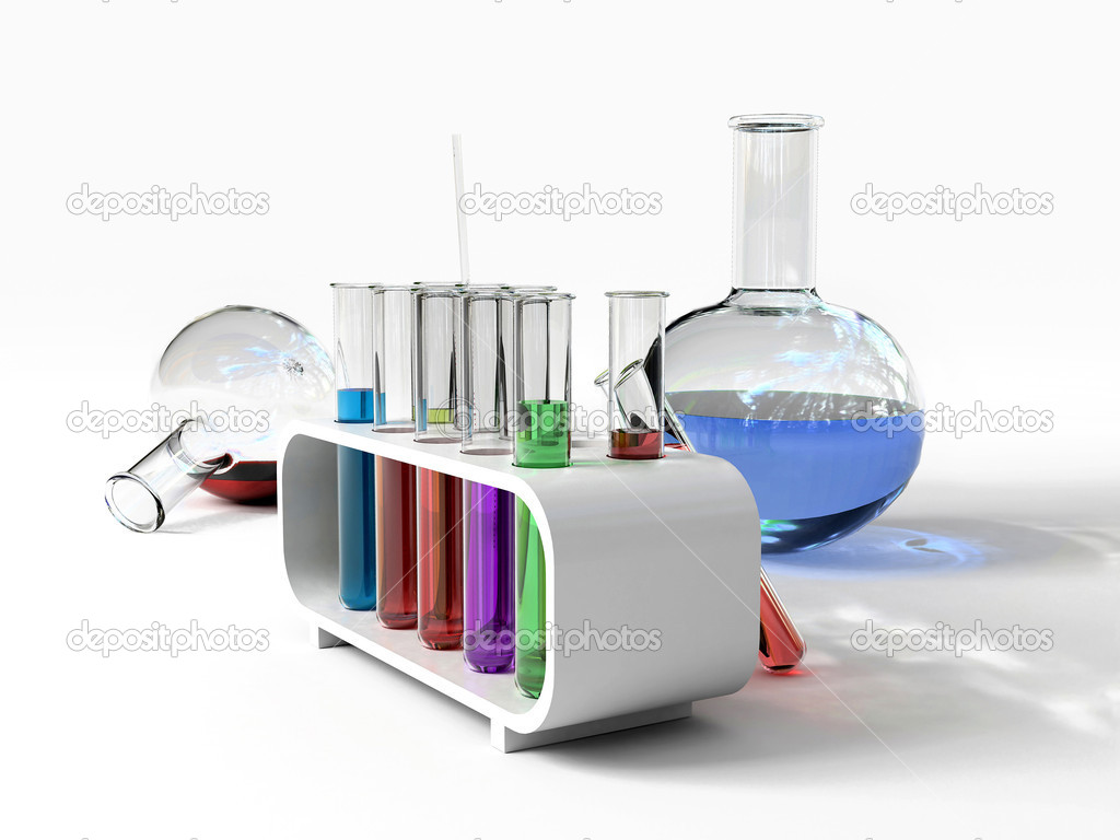 The laboratory tust tubes (3d Image) — Stock Photo #2507466