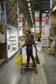 Women in warehouse — Stock Photo