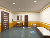 Inondations de salle de bain — Photo
