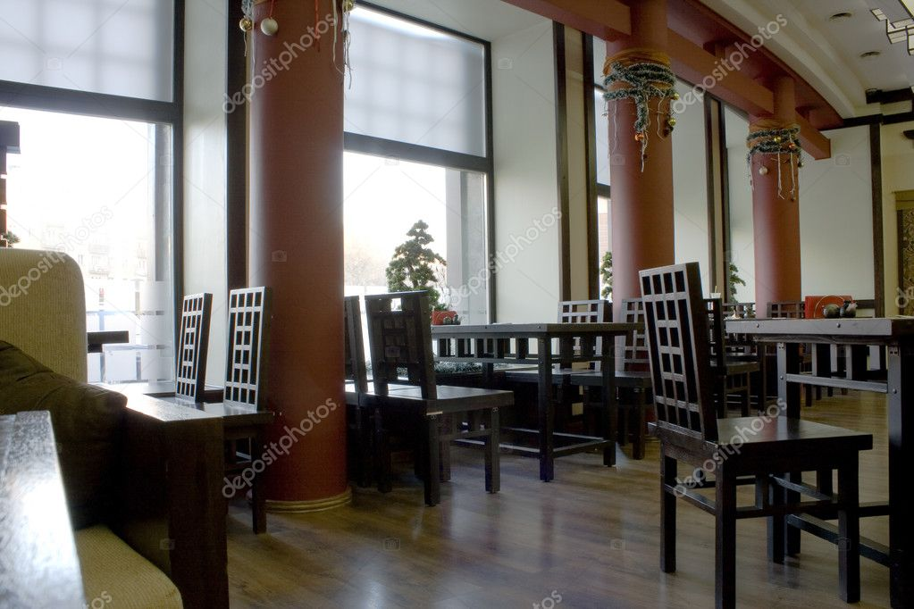 Asia style restaurant interior image  Stock Photo #2565594
