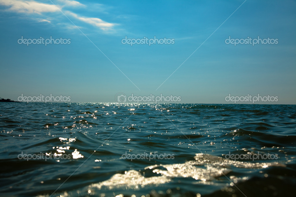 Blue sea horizon in sunny day photo  Stock Photo #2565944