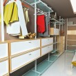 Stock Photo: Wardrobe interior