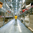 Man in storehouse — Stock Photo