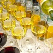 Stock Photo: Wine glasses row