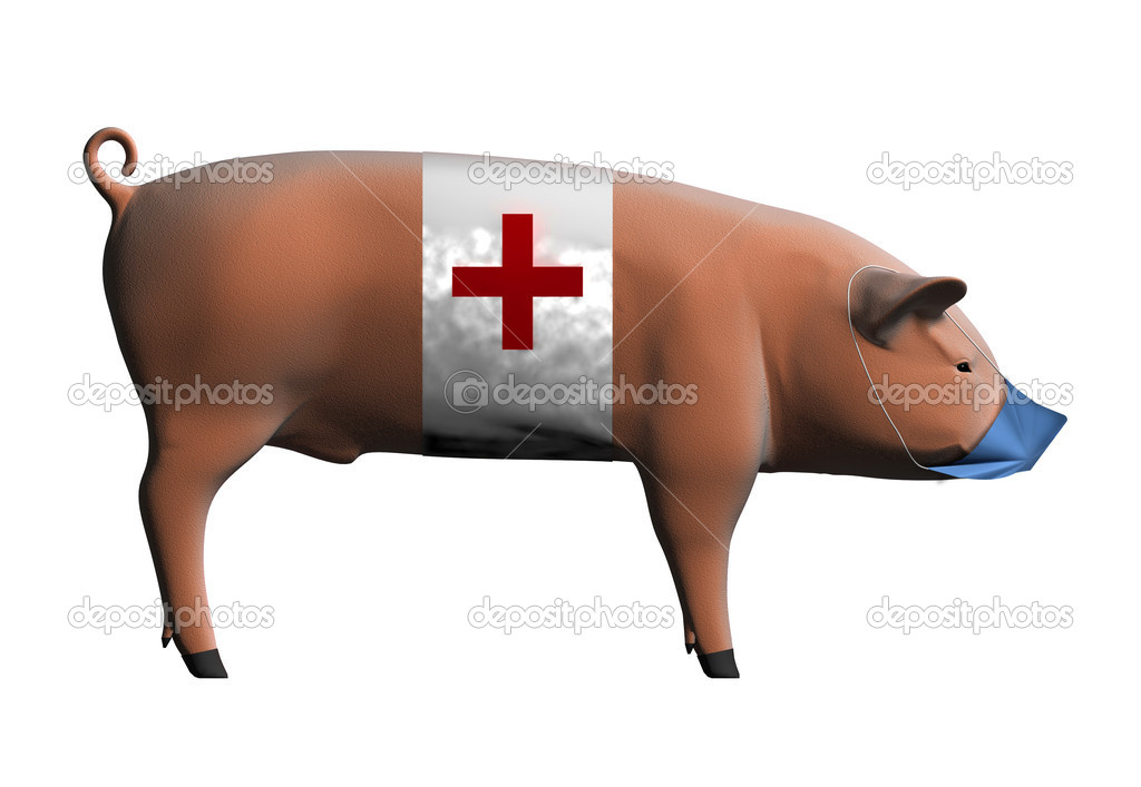 Swine flu pandemic concept (3D rendering) — Stock Photo #2629287