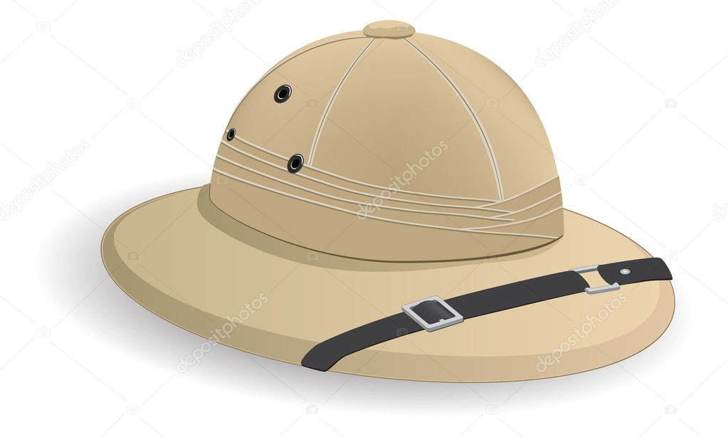 Colonial cork helmet   Stock Vector #2511888