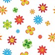 Stock Vector: Flowers seamless
