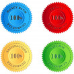 Colored guarantee labels — Stock Vector