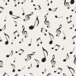Musical notes - seamless - Grafika wektorowa