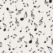 Musical notes - seamless - Stock Vector