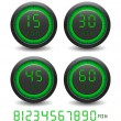Set of digital timer — Vector de stock #2557446