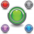 Beautiful colored button - Stock Vector