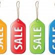 Colored sale tags - Stock Vector