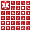Royalty-Free Stock Vector Image: Medical buttons set