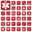 Stock Vector: Medical buttons set