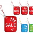 Sale tags trinkets - Stock Vector