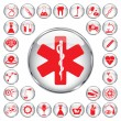 Royalty-Free Stock Vector Image: 30 medical icons