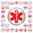 Stock Vector: 30 medical icons