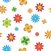 Fleurs sans soudure — Vecteur