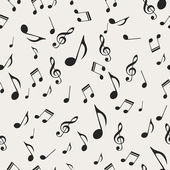 Musical notes - seamless — Vector de stock