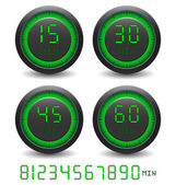 Set of digital timer — Stockvector