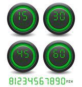 Sistema de contador de tiempo digital — Vector de stock