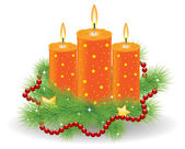 Christmas candle — Stock Vector