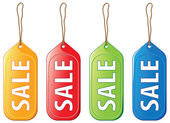 Colored sale tags — Stock Vector
