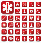 Medical buttons set — Stock Vector