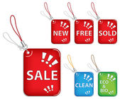 Sale tags trinkets — Stock Vector