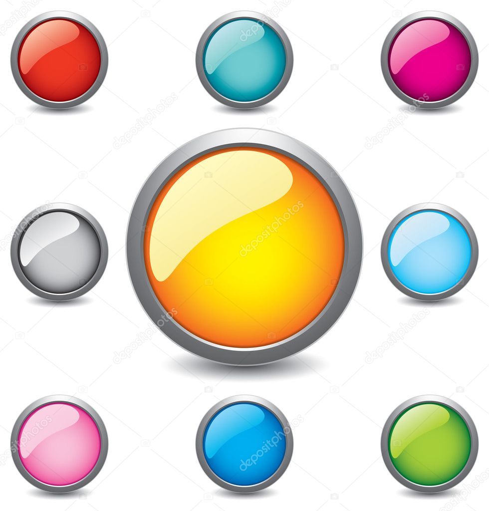 Glossy Button — Stock Vector © tumanchik #2558368