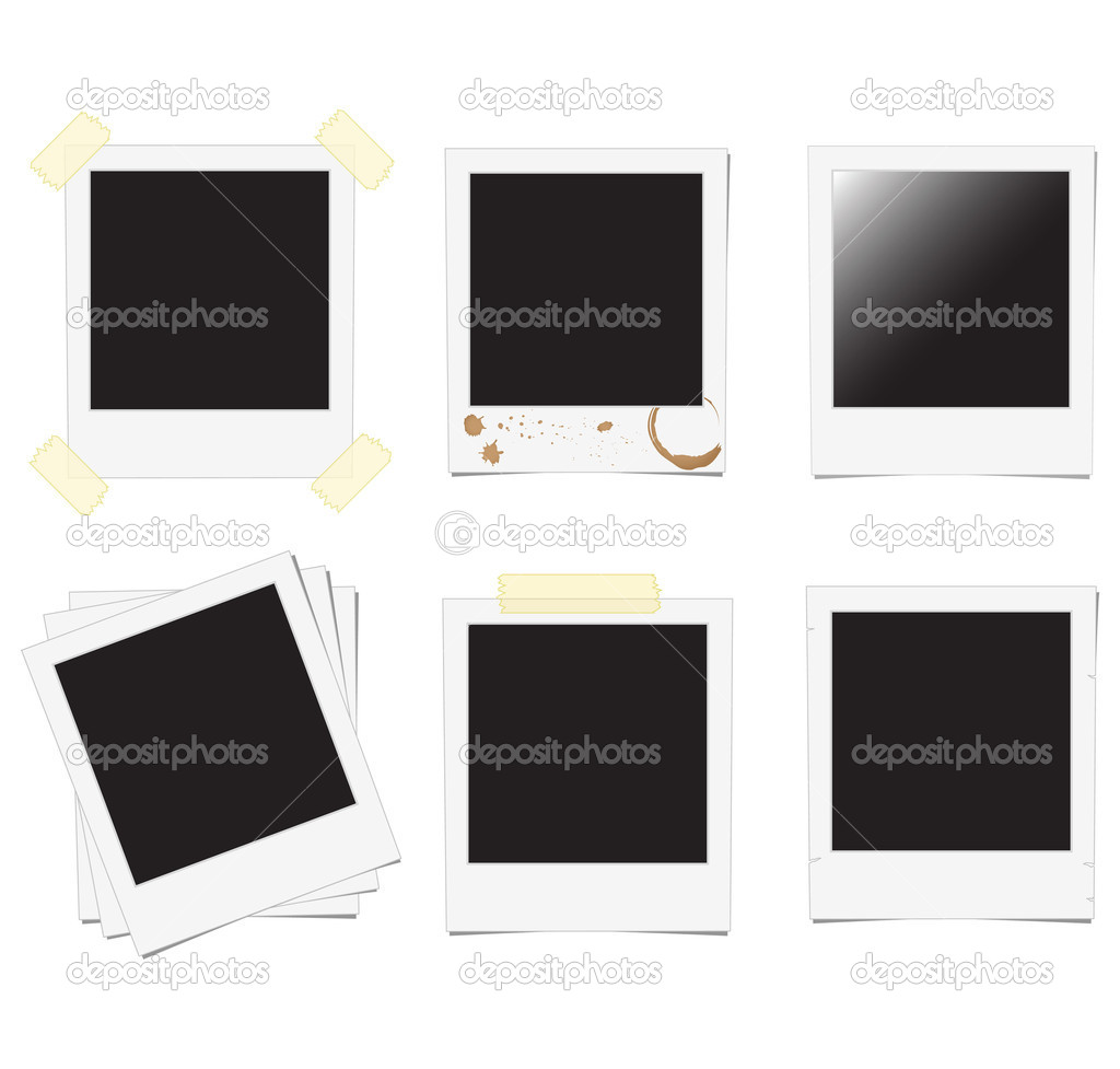 Set of polaroid frame  — Stock Vector #2559953