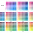 Print colours set by ten percent - Stock Photo