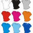 T-shirt illustration in different colour — Stock Photo