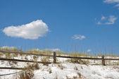 Rail Fence on Sand Dune — Stock Photo