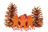 Gingerbread Men Decoration — Stock Photo