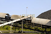 Coal Mining Conveyor Belt — Stock Photo