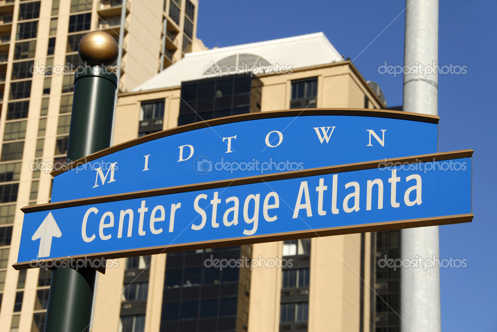 Midtown Sign for Center Stage Atlanta                                     — Stock Photo #2601351