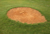 Little League Pitcher Mound — Stock Photo