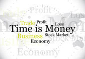 Time is money — Vettoriale Stock