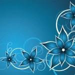 Blue flower vector — Stock Vector