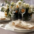 Fancy table set for a wedding dinner — Stock Photo #2516024