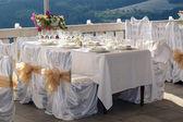 Tavola di fantasia per un pranzo di nozze — Foto Stock