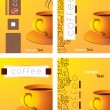 Stock Vector: Cup of coffee with abstract background