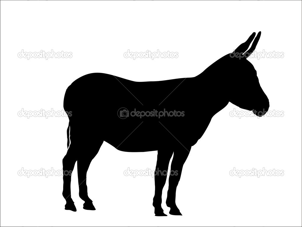 This is a silhouette from a donkey,vector — Векторная иллюстрация #2625591