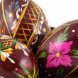 Stock Photo: Three Easter Paited Eggs close-up