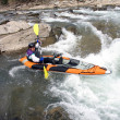 Stock Photo: Whitewater Rafter